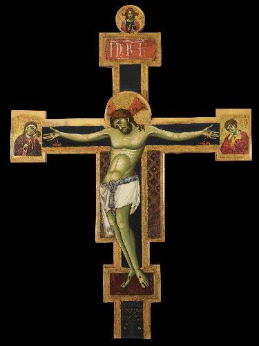 Conversazione sulla croce di Giunta Pisano restaurata