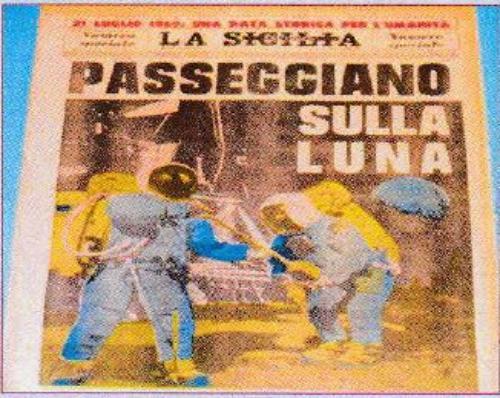 """Visita alla mostra """"Missione Apollo 11. Alla conquista della Luna 16 - 24 luglio 1969. Alla conquista della memoria nel 50° anniversario dello sbarco sulla Luna 16 - 24 luglio 2019. Esposizione di giornali d'epoca sulla più grande avventura dell'uomo nello Spazio"""""""