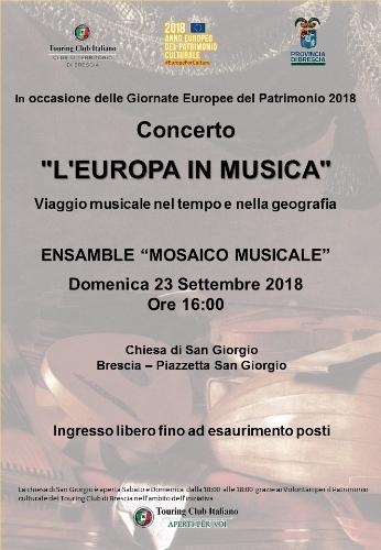 """""""L'Europa in Musica"""" - Viaggio musicale nel tempo e nella geografia"""