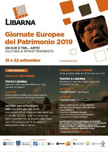 A Libarna presentazione della nuova App per la visita virtuale, visite guidate e spettacoli teatrali per le Giornate Europee del Patrimonio 2019