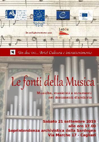 Le fonti della Musica. Musiche, musicisti e strumenti nei documenti d'archivio