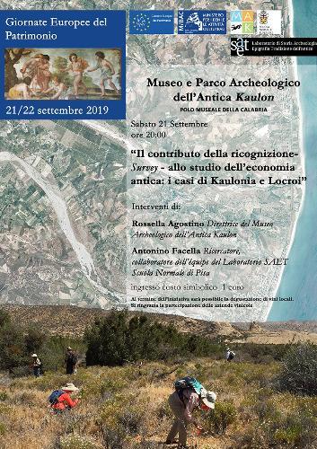 """Il contributo della ricognizione """"Survey"""" allo studio dell'economia antica: i casi di Kaulonìa e Locroi"""