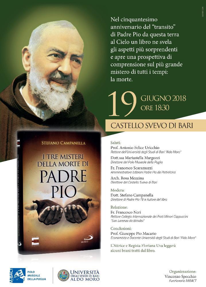 """Presentazione del libro: """"I tre misteri della morte di Padre Pio"""""""