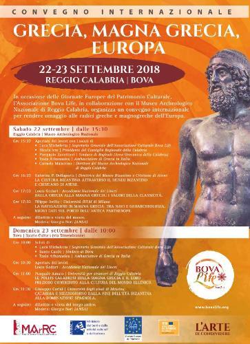 L'arte di condividere al MArRC nelle due Giornate Europee del Patrimonio, 22 e 23 settembre 2018
