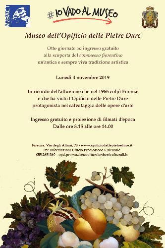 #IoVadoAlMuseo: ingresso gratuito all'Opificio delle Pietre Dure di Firenze