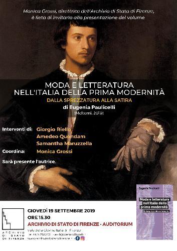 Moda e letteratura nell'Italia della prima modernità