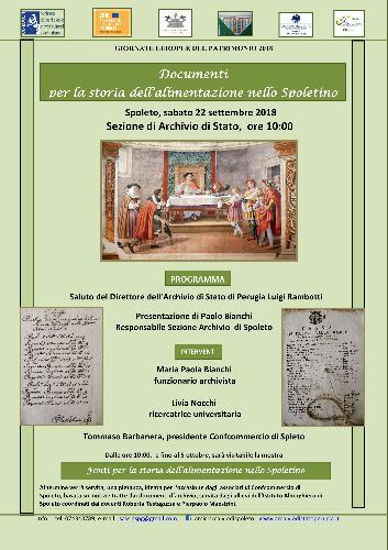 """""""Documenti per la storia dell'alimentazione nel territorio di Spoleto"""""""