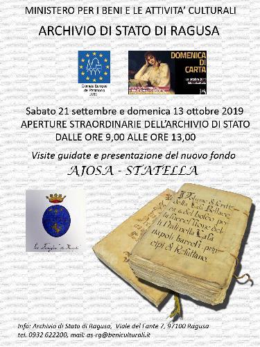 Presentazione Archivio Ajosa-Statella - Visite didattiche guidate