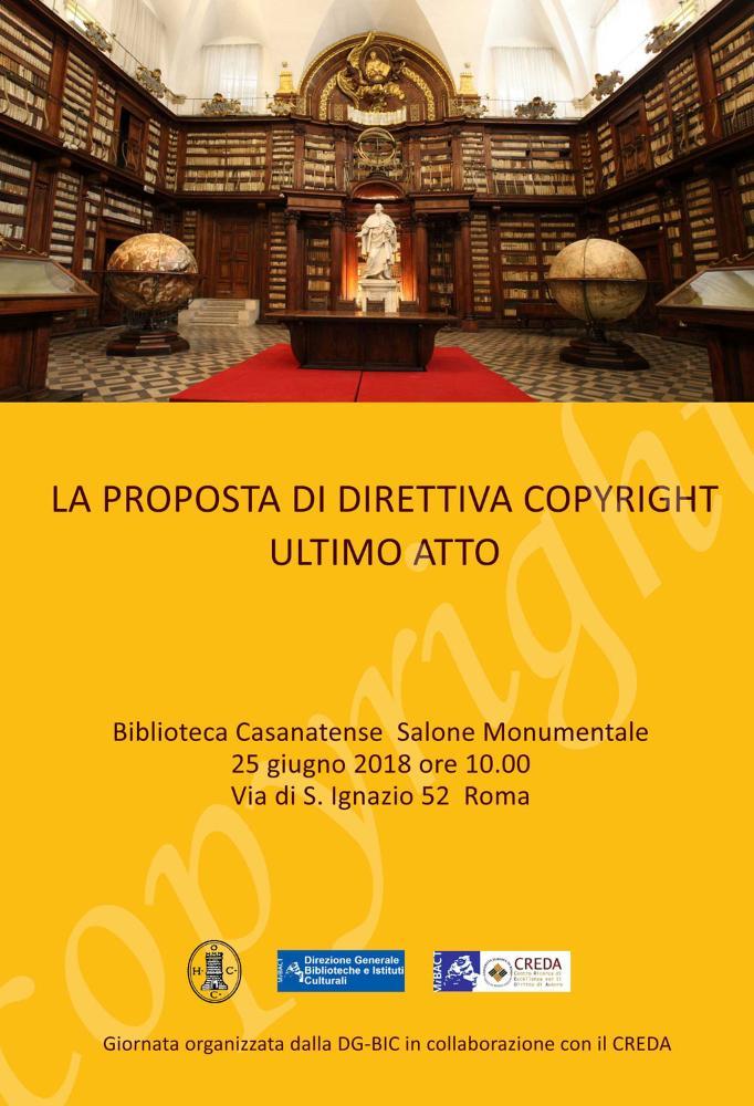 La proposta di direttiva copyright, ultimo atto