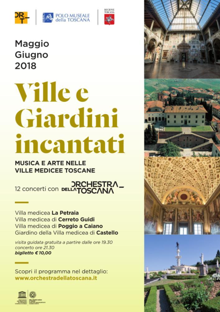 Martin Sieghart, direttore e Paolo Carlini al fagotto. Ville e Giardini incantati. Musica e arte nelle Ville medicee Toscane.