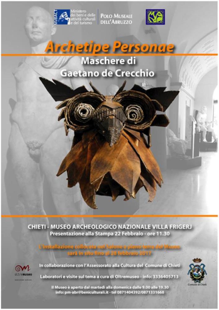 ARCHETIPE PERSONAE maschere di Gaetano de Crecchio