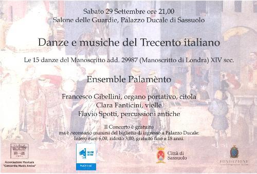 Danze e musiche del trecento italiano