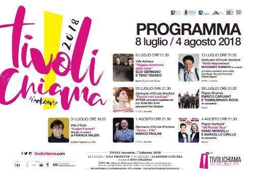 """""""TIVOLI CHIAMA!"""" Lo spettacolo dal vivo va in scena  nel centro storico e nelle Ville Patrimonio Unesco"""