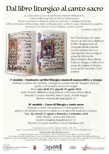 Dal libro liturgico al canto sacro